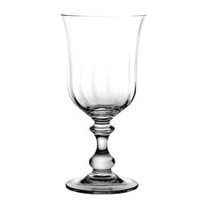 Fluted Lead Crystal Goblets, Set of 6