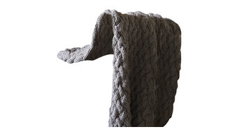 Odessa Throw, Charcoal