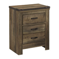 Ashley Furniture Home 24 72 In Nightstand Brown Finish Nightstands And Bedside Tables