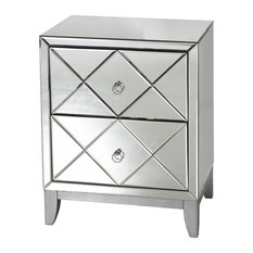 worlds away dylan mirrored nightstand nightstands and bedside tables
