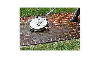 Sidewalk Cleaning with Scrubber