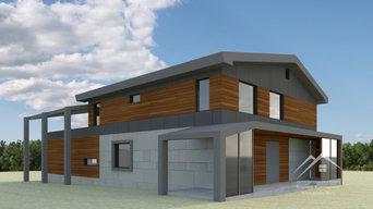 Проект реконструкции фасадов жилого дома 350 м²