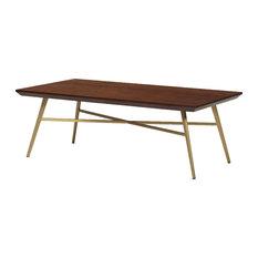 Rectangular Walnut Top Coffee Table