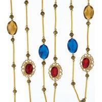 Kurt Adler 6' Antique Gold/Blue/Red/Copper Garland
