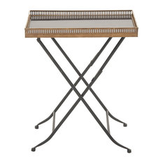 Unique Styled Metal Marble Tray Table