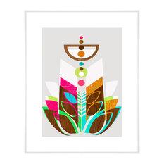 """Modern Topiary II"" Art Print by Linda Ketelhut, 10.5""x12.5"""