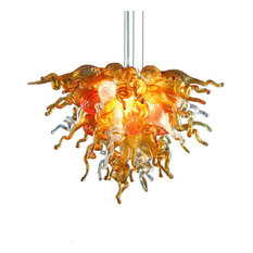 amber pendant lighting. Viz Art Glass - Mini Amber Sunshine Pendant Chandelier Lighting
