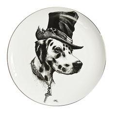 Brooklyn Dalmatian Dog Plate, Medium