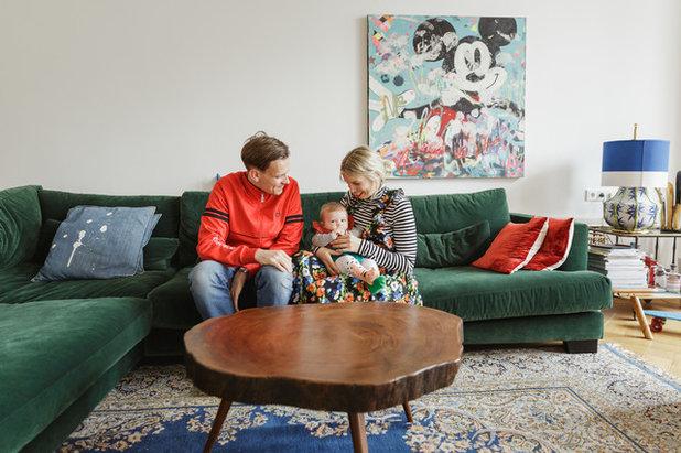 Uli Kaufmann visita privada muebles alegres ropa de firma y mickey mouse