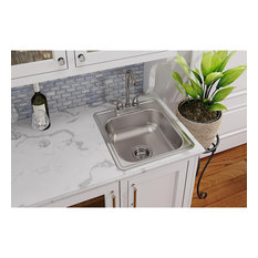"D117192 Dayton Stainless Steel 17"" x 19"" Drop-in Bar Sink, 2 Holes"