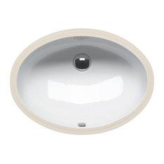 "Catalano 1SONN00 Canova Royal 22.44""x16.54"" Fireclay Washbasin, White"