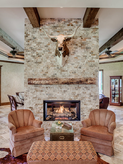Two Sided Fireplace Houzz