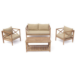 Farmhouse Outdoor Lounge Sets by Courtyard Casual