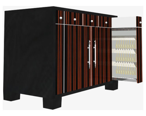 "Jewelley night chest 40""w x 30""h Exotic Veneer - Side Tables And End ..."