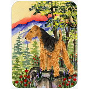 Airedale Glass Cutting Board Large Traditional Cutting Boards