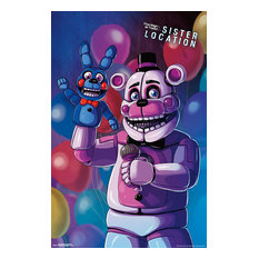 Five Nights At Freddy's: Sister Location Funtime Freddy Poster, Premium Unframed