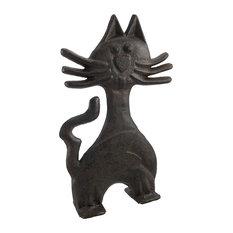 Cast Iron Kitty Cat Door Stop 11 In.