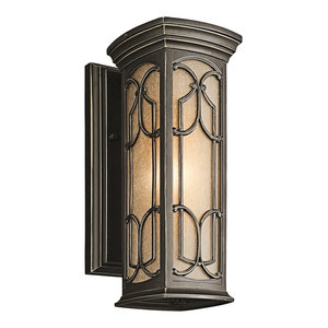 Traditional Wall Lantern, Olde Bronze, Small