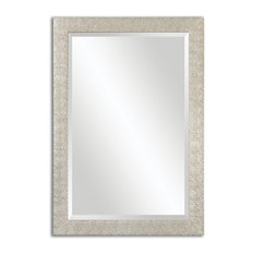 "Luxe 41"" Pebbled Silver Wall Mirror"