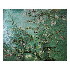 "Mosaic Tile Art, Green Tree, 63""x79"""