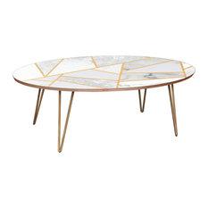 Ondine Hairpin Coffee Table - Marble Melange
