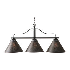 Barrington Large Island Light with Punched Tin Shades