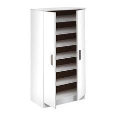 Direct Furniture Suppliers - Basic 7 Shelf Shoe Rack, White - Shoe Storage