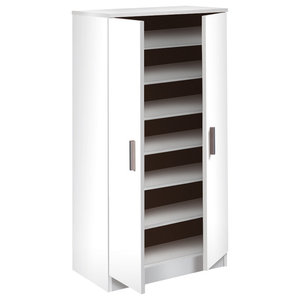 Basic 7 Shelf Shoe Rack, White