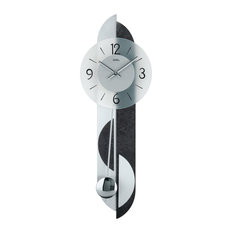 Alma Quartz Pendulum Wall Clock, Dark Grey