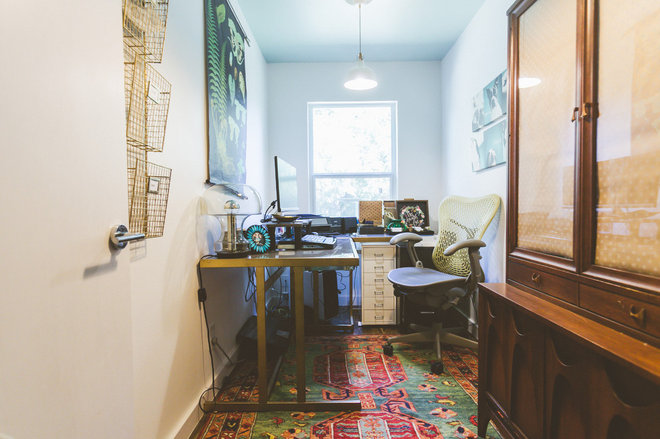 Eclectic Home Office by Heather Banks