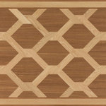 """Oshkosh Designs - Woven Artisan Wood Medallion, 36""""x60"""", Unfinished, 3/4"""" - The striking geometrical patterns in the Woven Artisan Rug medallion will tie any space together. High-contrast hardwoods simulate bands of fabric woven together with the symmetry of a fisherman's net. The resulting honeycomb pattern serves to create direction and flow. An exciting conversation piece from Oshkosh Designs."""