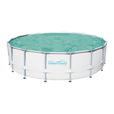 """Metal Frame Swimming Pool Package, 18' Round and 52"""" Deep"""