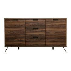 Palma Walnut Sideboard, 3 Drawers