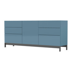 Metis Contemporary 6-Drawer Sideboard, Turquoise