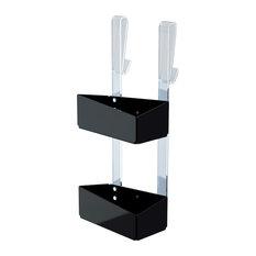 Freccia Hanging Shower Caddy, Black