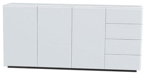 Arctic 40 Sideboard 3D & 4L, Vit/Vit Sockel - Opbevaringsskabe