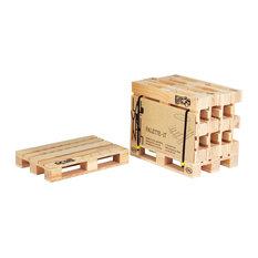 Pallet-It Coasters, Set of 4