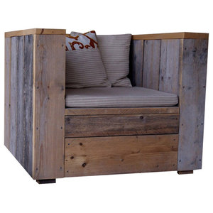 Billie Reclaimed Wood Garden Lounge Chair