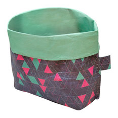 Paprcuts Utensil Holder, Triangles, Blue