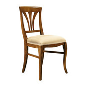 Traditional Hardwood Dining Chair, Walnut Finish, Without Armrests