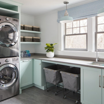 Northshore MA Whole House Remodel Laundry Room