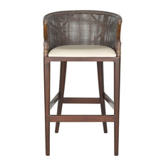 Safavieh Brando Barstool, Brown, White