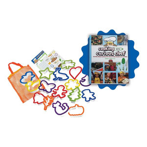 Cooking With Curious Chef Cookbook Cookie Cutter Collection, 16-Piece Set