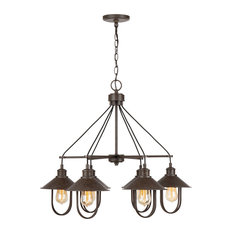 Pawley 6 Light Chandelier in Mineral Brown