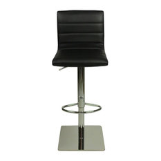 Deluxe Weighted Majorca Faux Leather Bar Stool, Black