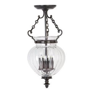 Finsbury Park Pendant Lamp, Old Bronze, Small