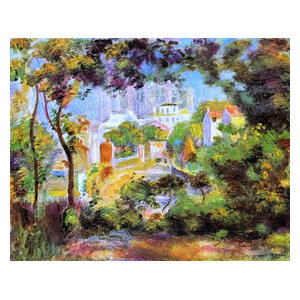 Landscape with a view of the Sacred Heart by Renoir Giclee Repro on Canvas