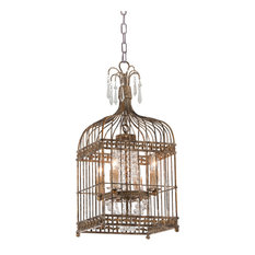 Metal Bird Cage Chandelier