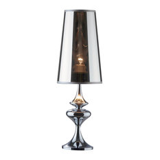 Ideal Lux Alfiere Chrome Table Lamp, Small