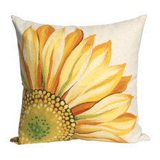 "Sunflower Yellow Pillow - 20"" SQ"